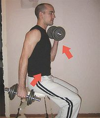 exercices de fitness - les bras