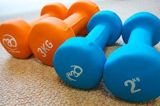 équipements de fitness : haltères